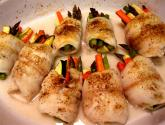 Sole Roll Ups With Sweet Sour Sauce