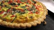 Fresh Tomato And Basil Quiche