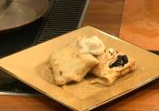 Sourdough Crepes With Fresh Blackberries, Creme Fraiche & Honey