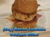 Seafood Sliders With Soy Bacon And Avocado