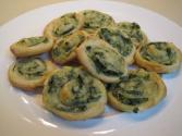 Spinach And Mushroom Pinwheels