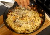 Italian Spaghetti With Wild Mushroom Sauce