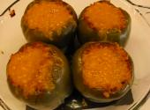 Spicy Hot Stuffed Green Peppers