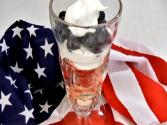 Red, White And Blue Parfait