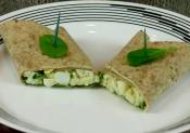 Spiced Egg And Spinach Wrap