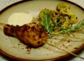 Spicy Chicken Leg With Zucchini And Squash Mix