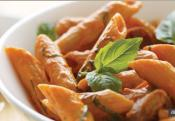 Spicy Sausage Penne With Red Pepper Sauce