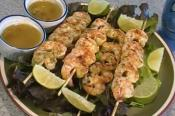 Lime And Jalapeno Shrimp Skewers