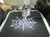 Halloween Spider Web Embroidery Design Created W/ Sophiesew - Stitched