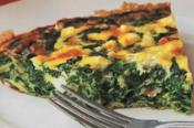 Crustless Greek Spinach And Feta Cheese Pie