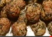 Spinach Balls With Walnuts And Parmesan Cheese