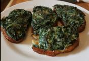 Leftover Creamed Spinach Toast