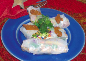 Fams Spring Rolls With Peanut Sauce