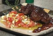 Grilled Steak With Corn And Tomato Salad