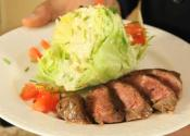 Wedge Salad With Grilled Chuck Tender Steak