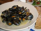 Steamed Mediterranean Mussels With Cinnamon Basil Ouzo And Feta Cheese