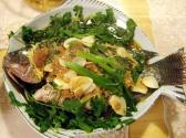 Steamed Talapia And Spinach