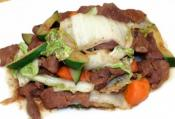 Stir Fried Flum Beef