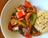 Stir Fried Beef With Peppers