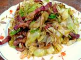 Stir-fried Cabbage And Pork - World Of Flavor