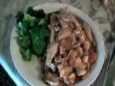 Stir Fried Broccoli And Romaine