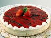 Cottage Cheesecake With Strawberry Glaze