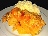 Streusel-style Peach Cobbler