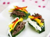 Korean Food: Stuffed Cucumber