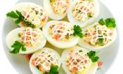 Caper & Anchovy Stuffed Eggs