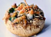 Stuffed Mushroom With Hummus