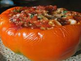 Egg Salad Stuffed Pepper