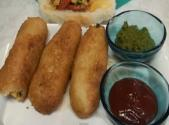 Stuffed Paneer Bread Rolls - Bread Bonda