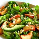 Stuffed Peach Salad Combination