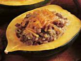 Squash Stuffed With Ground Beef