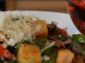 Menage Trois Rose Wine Paired With Summer Salad
