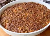 Sweet Potato Casserole With Pistachio Crust For Thanksgiving