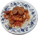 Sweet Potatoes With Sausage & Peppers