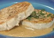 Sauteed Swordfish With Mustard And Pecan Coating