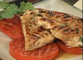 Chicken With Grilled Tomatoes Teriyaki Style