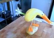 Making A Bird From Vegetables