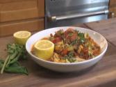 Tomato And Saffron Pasta With Lobster And Chorizo