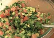 Summer Special Tomato Cucumber And Avocado Salad