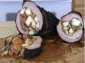 Tri Tip Stuffed With Cajun Shrimp & Bay Scallops Cooked On A Scottsdale.