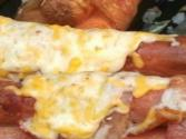 Triple Bacon Cheese Dogs