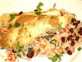 Tropical Rice And Fish Bake
