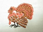 Brother Programmed Thanksgiving Turkey Embroidery Design Stitch