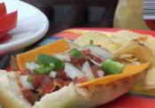 Turkey Hot Dogs With Salsa