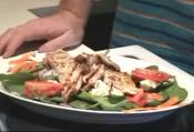 Baby Spinach With Nectarines & Grilled Chicken