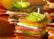 Cucumber &amp; Swiss Rye Stack-ups