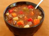 Microwaved Vegetable Beef Soup